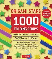 Origami Star Papers 1000 Paper Strips in Assorted Colours by Tuttle Publishing