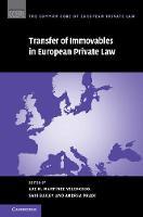 Transfer of Immovables in European Private Law by Luz M. Martinez Velencoso