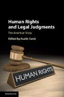 Human Rights and Legal Judgments The American Story by Austin Sarat
