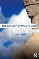 Research Methods in Law by Dawn (University of Leicester, UK) Watkins