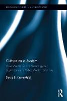 Culture as a System How We Know the Meaning and Significance of What We Do and Say by David Kronenfeld