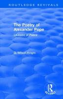 The Poetry of Alexander Pope (1955) Laureate of Peace by G. Wilson Knight