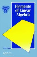 Elements of Linear Algebra by P. M. Cohn