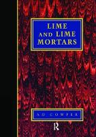 Lime and Lime Mortars by A. Cowper