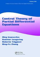 Control Theory of Partial Differential Equations by Guenter Leugering