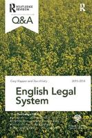 Q&A English Legal System 2013-2014 by Gary Slapper