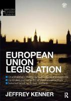 European Union Legislation 2012-2013 by Jeff Kenner