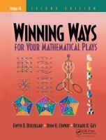 Winning Ways for Your Mathematical Plays, Volume 4 by Elwyn R. Berlekamp