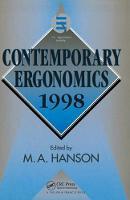 Contemporary Ergonomics 1998 by Margaret A. Hanson