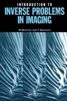 Introduction to Inverse Problems in Imaging by Mario Bertero