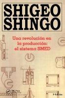 Una revolucion en la produccion el sistema SMED, 3a Edicion by Shigeo Shingo