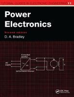 Power Electronics, 2nd Edition by David Allan Bradley