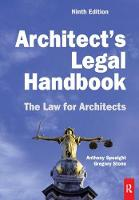 Architect's Legal Handbook by Anthony, QC Speaight