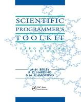 Scientific Programmer's Toolkit Turbo Pascal Edition by M.H Beilby