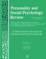 Personality and Social Psychology at the Interface New Directions for Interdisciplinary Research: A Special Issue of personality and Social Psychology Review by Marilynn B. Brewer