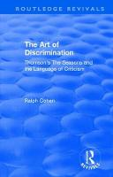 : The Art of Discrimination (1964) Thomson's The Seasons and the Language of Criticism by Ralph Cohen