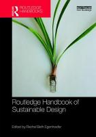 Routledge Handbook of Sustainable Design by Rachel Beth (University of San Francisco, USA) Egenhoefer