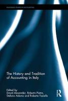 The History and Tradition of Accounting in Italy TBC by David Alexander