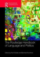 The Routledge Handbook of Language and Politics by Ruth Wodak