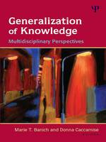 Generalization of Knowledge Multidisciplinary Perspectives by Marie T. Banich