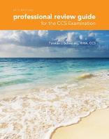 Professional Review Guide for the CCS Examination, 2017 Edition by Patricia Schnering