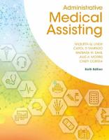 Administrative Medical Assisting by Wilburta Lindh, Carol D. Tamparo, Cindy (City University of New York at Queens College) Correa, Barbara Dahl