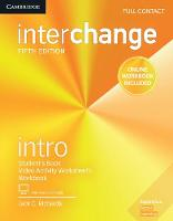 Interchange Intro Full Contact with Online Self-Study and Online Workbook by Jack C. Richards