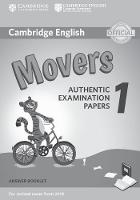 Cambridge English Movers 1 for Revised Exam from 2018 Answer Booklet Authentic Examination Papers by