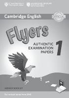 Cambridge English Flyers 1 for Revised Exam from 2018 Answer Booklet Authentic Examination Papers by