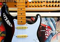Guitars and Amps - Let's Rock 2017 Fascinating Electric Guitars and Bass Guitars in Front of Amplifiers by Renate Bleicher