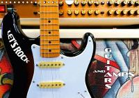Guitars and Amps - Let's Rock 2018 Fascinating Electric Guitars and Bass Guitars in Front of Amplifiers by Renate Bleicher