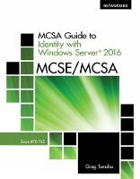 MCSA Guide to Identity with Windows Server (R) 2016, Exam 70-742 by Greg (Yavapai College) Tomsho