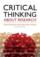 Critical Thinking About Research Psychology and Related Fields by Harris M. Cooper, Julian Meltzoff