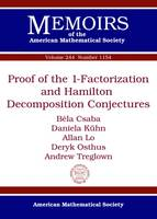 Proof of the 1-Factorization and Hamilton Decomposition Conjectures by Bela Csaba, Daniela Kuhn, Allan Lo, Deryk Osthus