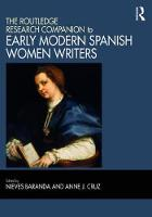 The Routledge Research Companion to Early Modern Spanish Women Writers by Leturio Nieves Baranda
