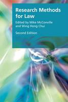 Research Methods for Law by Mike McConville