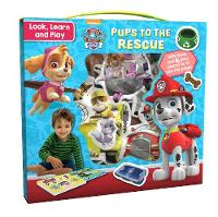 Nickelodeon PAW Patrol Look, Learn and Play: Pups to the Rescue With Book and 16 Play Pieces to Fit into the Pages by Parragon Books Ltd