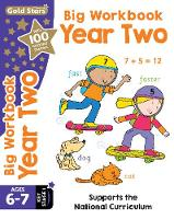 Gold Stars Big Workbook Year Two Ages 6-7 Key Stage 1 Supports the National Curriculum by Nina Filipek