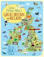 Sticker Picture Atlas of Great Britain and Ireland by Jonathan Melmoth