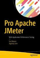Pro Apache JMeter Web Application Performance Testing by Sai Matam, Jagdeep Jain