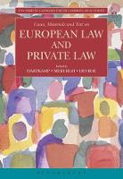 Cases, Materials and Text on European Law and Private Law by Arthur Hartkamp