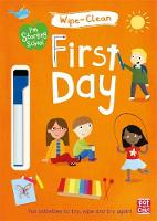 First Day Wipe-clean book with pen by Pat-a-Cake