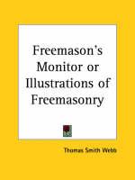 Freemason's Monitor or Illustrations of Freemasonry (1818) by Thomas Smith Webb