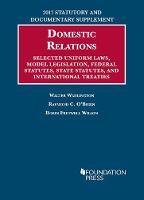 Family Law Statutes Selected Uniform Laws, Model Legislation, Federal Statutes, State Statutes, and International Treaties by Walter Wadlington, Raymond O'Brien, Robin Wilson