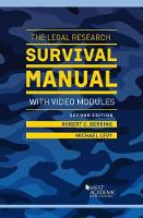 The Legal Research Survival Manual with Video Modules by Robert Berring