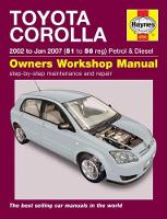 Toyota Corolla (02 - Jan 07) 51 to 56 by Peter Gill