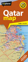 Qatar Country Map by Explorer Publishing and Distribution