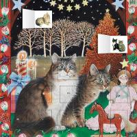 Ivory Cats - An American Christmas advent calendar (with stickers) by Flame Tree Studios