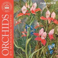 Kew Gardens - Orchids by Marianne North - mini wall calendar 2018 (Art Calendar) by Flame Tree Studios