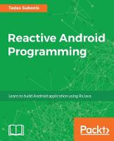 Reactive Android Programming by Tadas Subonis